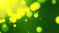 Green Bokeh Particles,Loopable