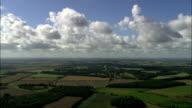 Green English Landscape under Blue Sky - Aerial View - England, Norfolk, King's Lynn and West Norfolk District, United Kingdom