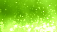 4K Green Glitter Rising Background Loopable