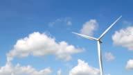 HD: erba verde con le sue turbine eoliche, generazione di energia elettrica