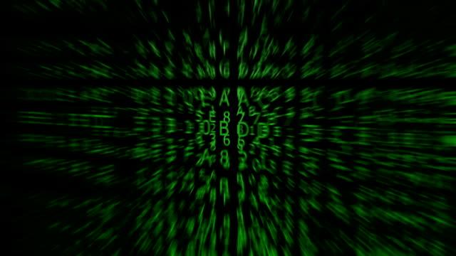 Green Hexadecimal Codes, blurred
