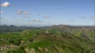AERIAL Green hills near Los Angeles, California, USA