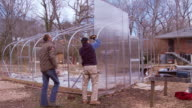 T/L WS Green house being constructed / Atlanta, Georgia, USA