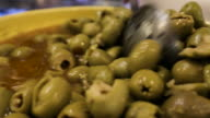 green olives in a bowl in seville spain
