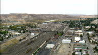Green River Train Station  - Aerial View - Wyoming, Sweetwater County, United States