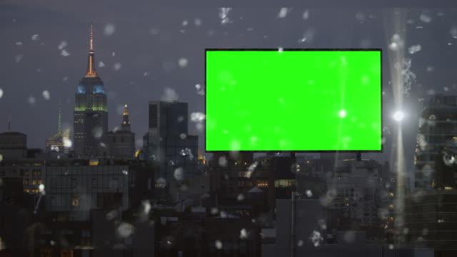 Green Leinwand Chroma-key billboard New York Silver glitter