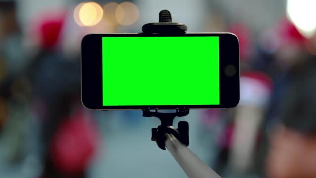 Groen scherm, chromakey New York City Kerst vakantie mobiele Smartphone