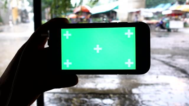 Green Screen Handheld Smartphone