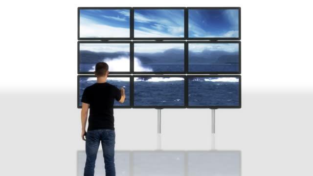 Green screen video wall