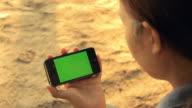 Green Screen with beautiful asian girl