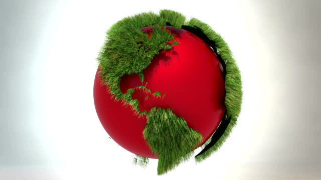Green world - red