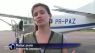Greenpeace denuncia la tala clandestina de arboles de la Amazonia brasilena