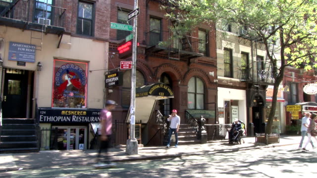 Greenwich Village NYC Store Fronts & Apartments - Macdougal Street