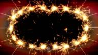 Greetings frame of sparklers