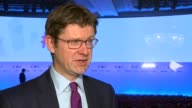 London Park Lane Grosvenor House INT Greg Clark MP interview SOT re Brexit and industry