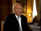 Greg Dyke new director general of BBC/Political storm ITN London Greg Dyke interview SOT If you want to sustain British broadcasting industry will...