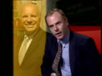Greg Dyke new director general of BBC/Political storm ITN Matthew Horsman interview SOT BBC is about public service broadcasting but at same time if...
