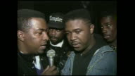 Greg Nice of the Hip Hop group Nice n Smooth freestyle raps for the camera 1991