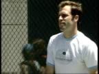 Greg Rusedski cleared on drug charges LIB Rusedski training on court