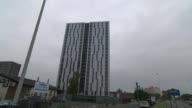 82 buildings fail new fire safety tests Greater Manchester Salford EXT Various of blocks of flats on the Pendleton Estate that have had sections of...