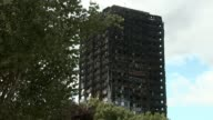 Inquiry to begin amid controversy 3 months after fire T20071718 / TX ENGLAND London North Kensington Latimer Road EXT Various shots Grenfell Tower...