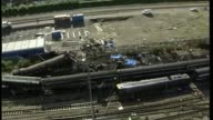 Inquiry to begin amid controversy 3 months after fire T22050230 / TX Ladbroke Grove Various shots wreckage of trains following Paddington train crash