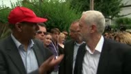 Jeremy Corbyn visit ENGLAND London EXT Various of Jeremy Corbyn MP visiting St Clements Church in the area of the Grenfell Tower fire and meeting...