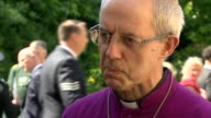 Justin Welby interview on his reaction to the fire ENGLAND London Southwark EXT Most Revd Justin Welby interview re a service at Southwark Cathedral...