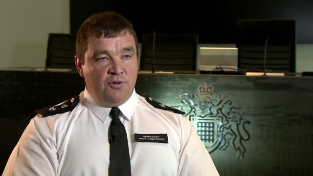 Metropolitan Police Sergeant Nick Thatcher interview ENGLAND London INT Sergeant Nick Thatcher interview re response to Grenfell Tower fire SOT