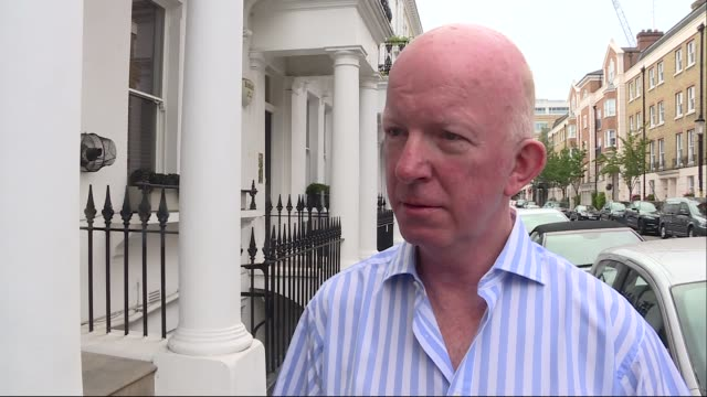 Nick PagetBrown interview ENGLAND London EXT Nick PagetBrown doorstep interview SOT