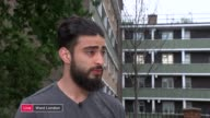 residents mistrustful of public inquiry / further victims named LIVE ENGLAND London North Kensington EXT Sajad Jamalvatan interview SOT