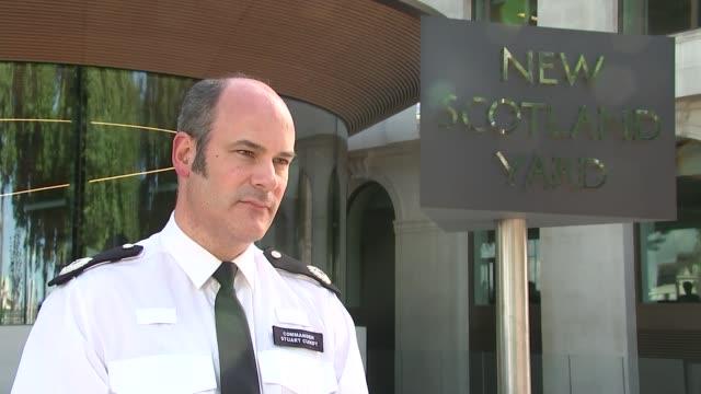 Scotland Yard statement ENGLAND London New Scotland Yard EXT Commander Stuart Cundy interview SOT
