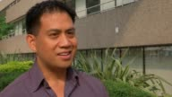 Son of man rescued from tower talks of ordeal / Fire safety review Gordon Bonifacio interview SOT