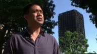 Son of man rescued from tower talks of ordeal / Fire safety review EXT Gordon Bonifacio interview SOT He is better now