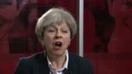 Theresa May interview ENGLAND London INT Theresa May MP interview SOT absolutely awful fire that tool place people have lost their lives their homes...
