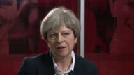 Theresa May interview ENGLAND London INT Theresa May MP interview SOT This was a terrible tragedy that took place people have lost their lives and...