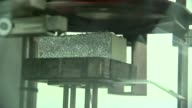 third key cladding product revealed TX Hertfordshire ITRI Innovation INT Close shot of exposed edge of Celotex insulation being tested in laboratory...