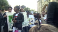 Grenfell Tower residents marching in silence at the start of the official inquiry