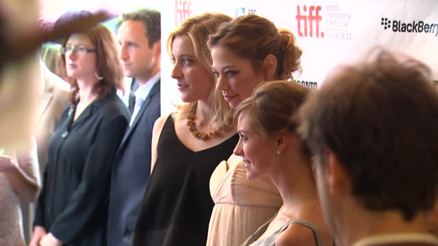Greta Gerwig Analeigh Tipton Carrie MacLemore at the 'Damsels In Distress' Premiere 2011 Toronto International Film Festival at Toronto ON