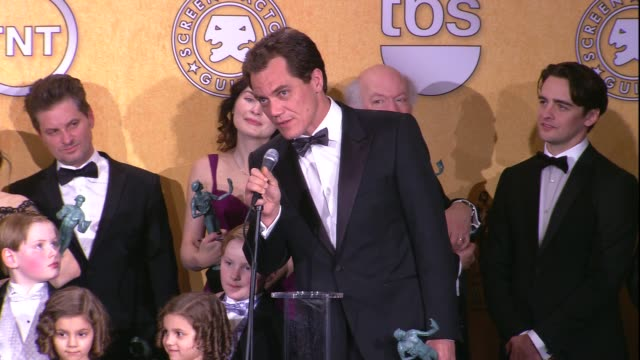 Gretchen Mol Michael Shannon on the event and on their SAG Award win for Ensemble in a Drama Series at 18th Annual Screen Actors Guild Awards Press...