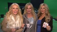 Gretchen Rossi Taylor Armstrong Alexis Bellino at On Set With The Real Housewives Of NYE At The Ciroc Vodka Safe Ride PSA Shoot in Los Angles CA