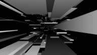 Graue Blöcke Tunnel Loop/abstrakte futuristisch Animation