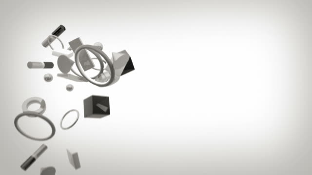 Sfondo di grigio forme su bianco (HD