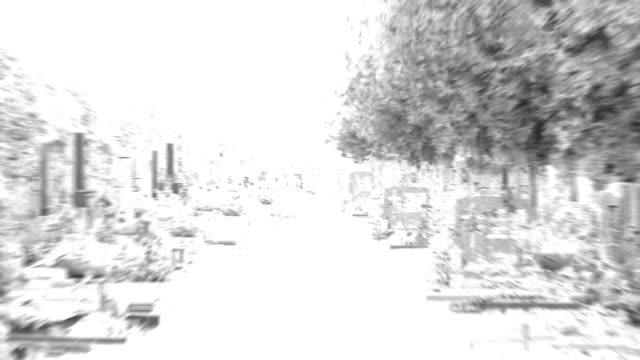 CENTRAL CEMETERY : grief - visiting the graves (fade in/out)
