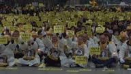 Grieving relatives of the victims of last years South Korean ferry sinking complete a 46 kilometre marathon march Sunday to call for an independent...