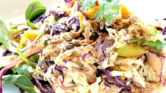 Grilled chicken with vegetable salad