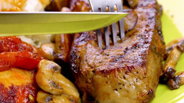 Succosa bistecca alla griglia