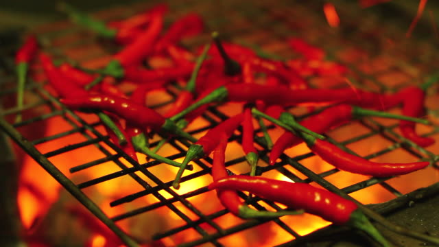Grilled red chili