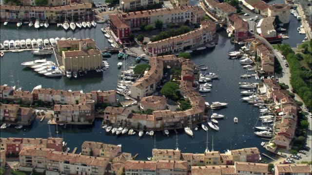 AERIAL, Grimaud port, Provence-Alpes-Cote d'Azur, France