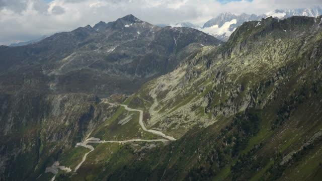 Grimsel Pass Road near Gletsch, Valais, Switzerland, Europe